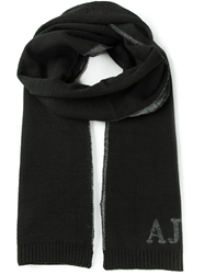 Armani Jeans Knitted Scarf Black