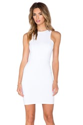 Donna Mizani Front Panel Mini Dress White