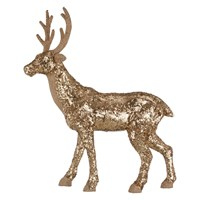 John Lewis Ostravia Sequin Standing Stag Gold