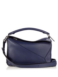 Loewe Puzzle Leather Bag Blue