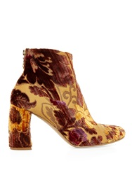 Stella Mccartney Floral Flocked Ankle Boots