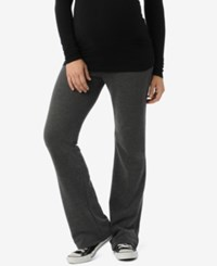 Motherhood Maternity French Terry Pants Charcoal