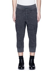 Attachment Drop Crotch Cropped Jogging Pants Grey