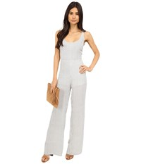 Brigitte Bailey Julie Striped Jumpsuit White Stripe Women's Jumpsuit And Rompers One Piece