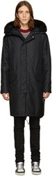 Mcq By Alexander Mcqueen Black Long Nylon Parka