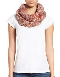 Collection 18 Knit And Faux Fur Lined Loop Scarf Copper