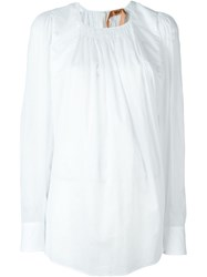 No21 Oversized Blouse White