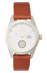 Triwa Women's 'Aska' Leather Strap Watch 32Mm