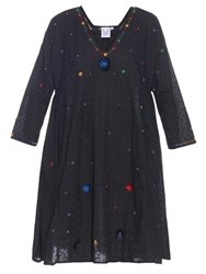 Thierry Colson Pakeza Embroidered Cotton Dress Black Multi
