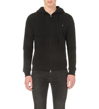 Allsaints Wilde Cotton Jersey Hoody Jet Black