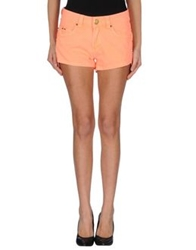 Lez A Lez Denim Shorts Orange