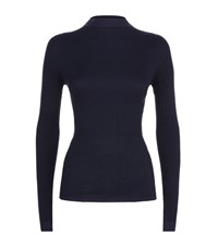 Escada Sport Shuyan Lurex Turtleneck Female Navy