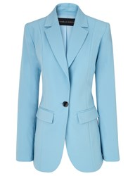 Michael Lo Sordo Baby Blue Relaxed Blazer