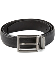 Giorgio Armani Square Buckle Belt Black