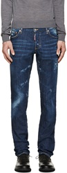Dsquared Blue Faded And Distressed Jeans