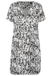 Kiomi Summer Dress White Black
