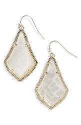 Women's Kendra Scott 'Alex' Teardrop Earrings Ivory Mother Of Pearl Gold