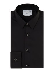 T.M.Lewin Sateen Super Fitted Shirt Black