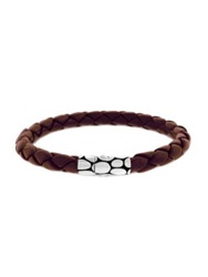 John Hardy Woven Leather Bracelet Brown