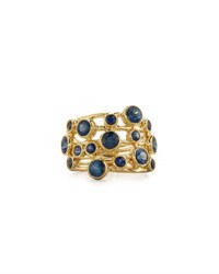 Ippolita Stardust Constellation 18K Sapphire Ring Blue