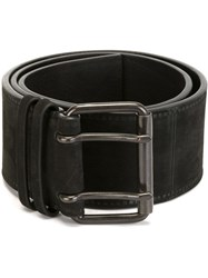Haider Ackermann Double Buckle Belt Black