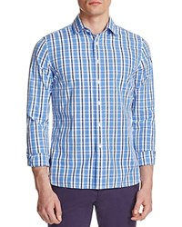The Men's Store At Bloomingdale's Tonal Plaid Classic Fit Button Down Shirt Blue
