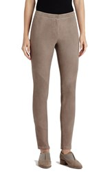 Lafayette 148 New York Women's 'Magic Stretch' Suede Skinny Pants Portobello
