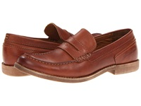 Calvin Klein Jeans Prezley Tan Pull Up Leather Men's Slip On Shoes
