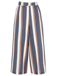 Warehouse Striped Culottes Blue