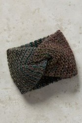 Anthropologie Marled Knit Earband Green
