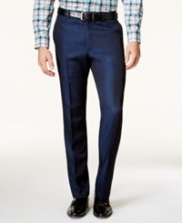 Alfani Men's Slim Fit Navy Iridescent Pants Only At Macy's