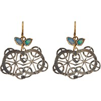 Judy Geib Women's Opal Gold And Oxidized Silver Kaleidoscope Earrings No Color