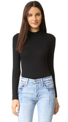 Only Hearts Club So Fine Mock Neck Long Sleeve Bodysuit Black