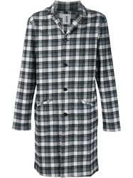 321 Plaid Mid Length Coat Black