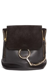 Chloe Medium Faye Suede And Leather Backpack