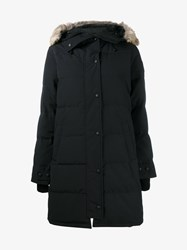 Canada Goose Shelburne Coyote Fur Trim Parka Navy Blue Golden
