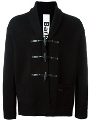 Bark Knitted Toggle Coat Black
