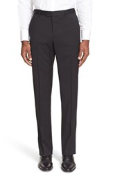 Men's Armani Collezioni Flat Front Solid Wool Trousers