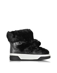 Michael Kors Nala Fur And Calf Hair High Top Sneaker Boot Black
