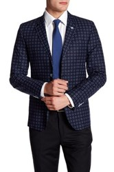 Ted Baker Debonair Printed Two Button Notch Lapel Sports Coat Blue