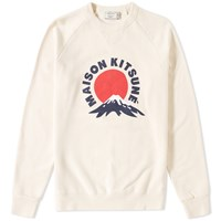Maison Kitsune Mount Fuji Crew Sweat Neutrals