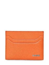 Tod's Embossed Leather Credit Card Holder