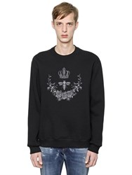 Dolce And Gabbana Crown Bee Embroidered Sweatshirt