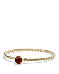David Yurman Chatelaine Bracelet With Garnet In 18K Gold Red Gold