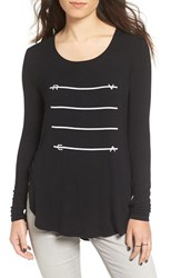 Rvca Women's 'Strike' Long Sleeve Graphic Tee