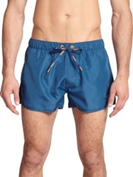 Diesel Revy Reversible Swim Trunks Blue Orange