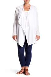 Melissa Mccarthy Seven7 Sheer Dotted Flyaway Cardigan Plus Size White