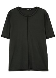 Blk Dnm Black Reverse Seam Cotton T Shirt
