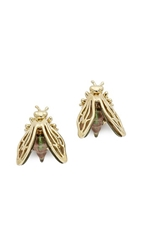 Alexis Bittar Iridescent Bumble Bee Stud Earrings Gold