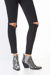 Jeffrey Campbell Vaquero Ankle Boot Black And White